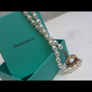 Tiffany Pearl+Sterling Silver Necklace